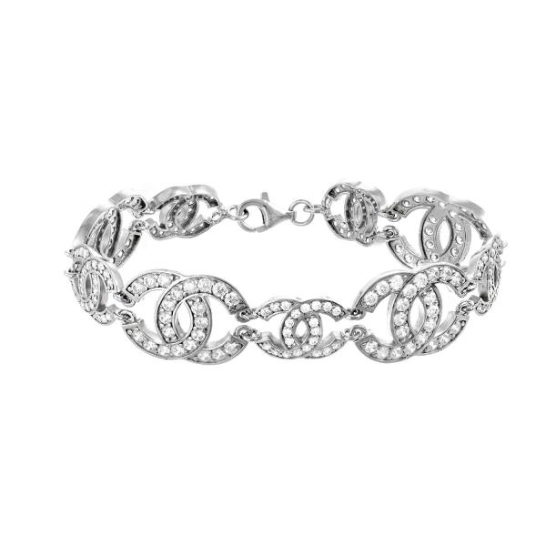 Bransoletka srebrna CC styl...
