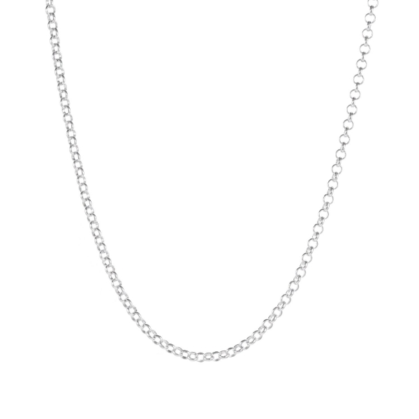 Łańcuszek srebrny rolo
