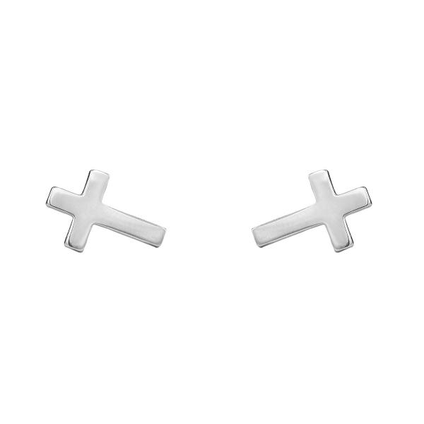 Kolczyki srebrne krzyżyki