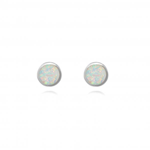 Kolczyki srebrne z opalem