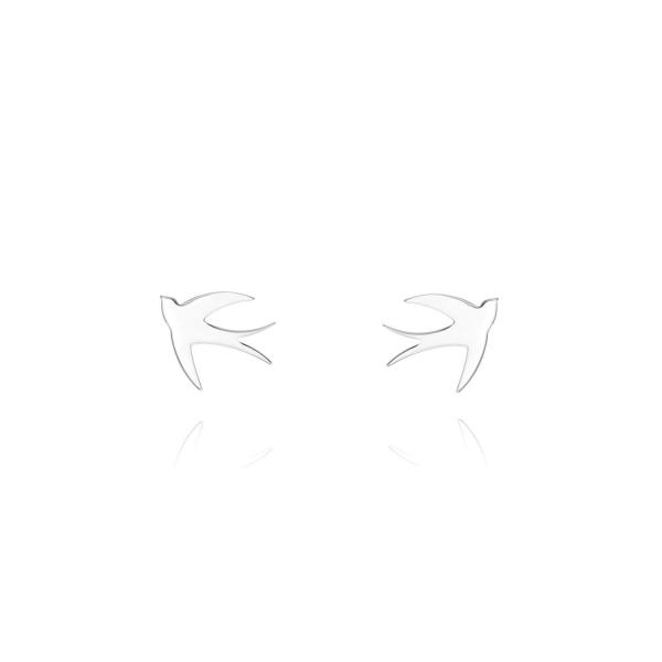 Kolczyki srebrne jaskółki