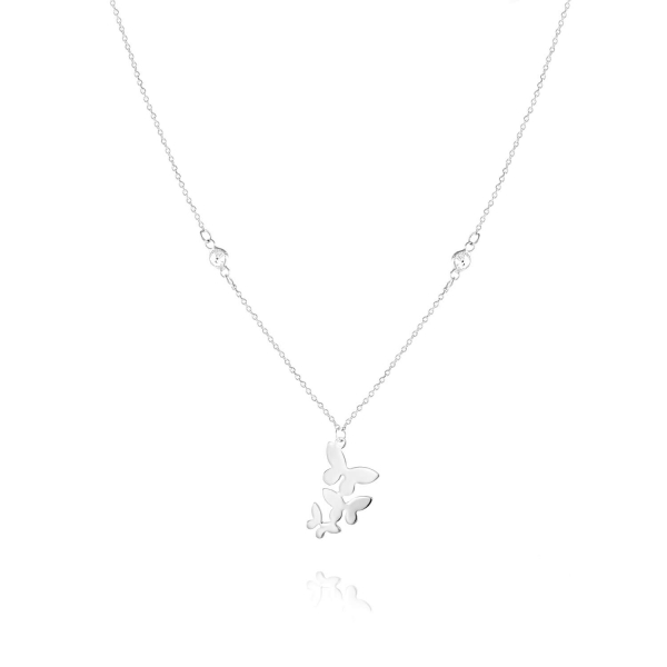 Naszyjnik srebrny motyle