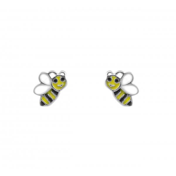 Kolczyki srebrne pszczółki