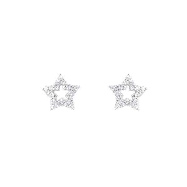 Kolczyki srebrne gwiazdki...