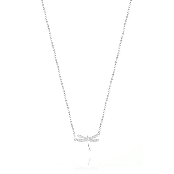 Naszyjnik srebrny ważka mała