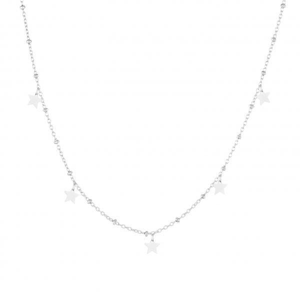 Naszyjnik srebrny gwiazdki