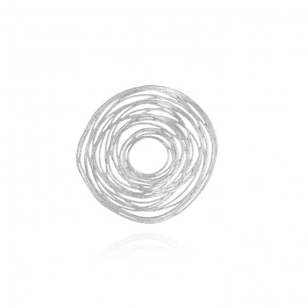 Zawieszka srebrna duże koło