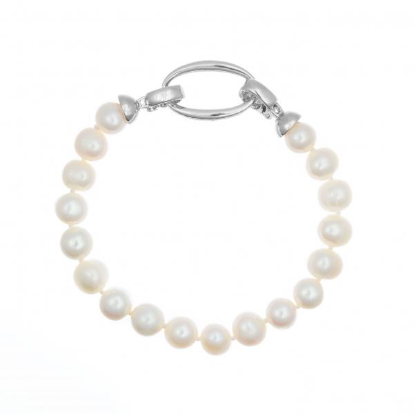 Bransoletka perły białe 21 cm