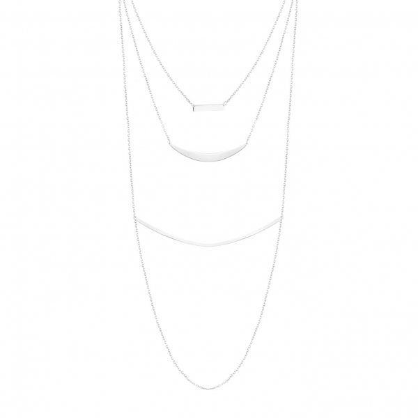 Naszyjnik srebrny potrójny